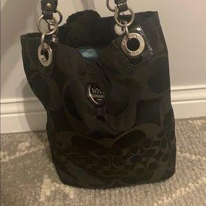 Used coach bucket bag